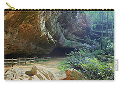 Carry-all Pouch featuring the photograph Cave Entrance by Myrna Bradshaw