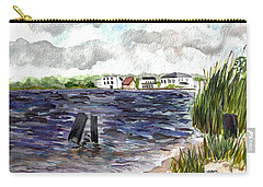 Carry-all Pouch featuring the painting Cedar Beach by Clara Sue Beym