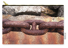 Carry-all Pouch featuring the photograph Chain Under The Golden Gate Bridge by Bill Owen