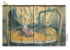 Carry-all Pouch featuring the painting Chair With Potatoes by Avonelle Kelsey