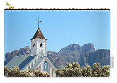 Carry-all Pouch featuring the photograph Chapel In Superstitions by Penny Meyers
