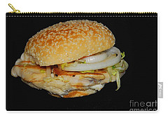 Carry-all Pouch featuring the photograph Chicken Sandwich by Cindy Manero