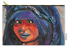 Child Bride Of The Sahara - Close Up Carry-all Pouch by Avonelle Kelsey