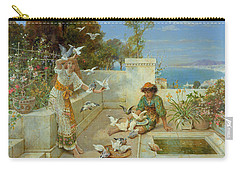 Children By The Mediterranean  Carry-all Pouch by William Stephen Coleman