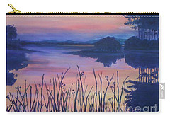 Carry-all Pouch featuring the painting Chincoteaque Island Sunset by Julie Brugh Riffey