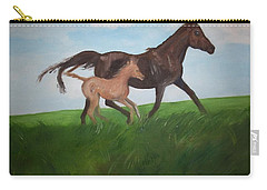 Carry-all Pouch featuring the painting Chloe's Dream by George Pedro