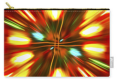 Carry-all Pouch featuring the photograph Christmas Light Abstract by Steve Purnell