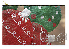 Carry-all Pouch featuring the photograph Christmas Ornaments by Patrice Zinck