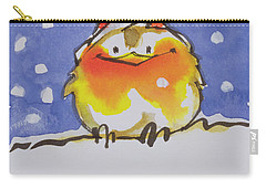 Christmas Robin Carry-all Pouch by Diane Matthes