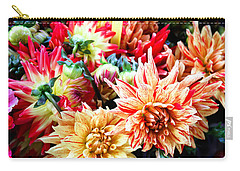Chrysanthemum Blooms Carry-all Pouch by Tony Grider