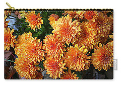 Chrysanthemums Carry-all Pouch by Kay Novy