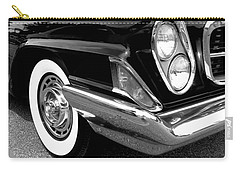 Chrysler 300 Headlight In Black And White Carry-all Pouch