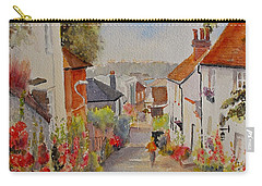 Carry-all Pouch featuring the painting Church Hill - Hythe- Uk by Beatrice Cloake