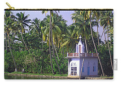 Church Located On A Coastal Lagoon In Kerala In India Carry-all Pouch by Ashish Agarwal