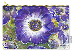 Cineraria Of South Africa  Carry-all Pouch by Bernadette Krupa