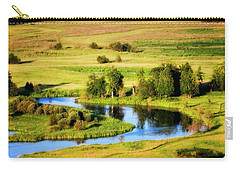 Carry-all Pouch featuring the photograph Clark Fork Delta  by Albert Seger