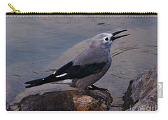 Carry-all Pouch featuring the photograph Clark's Nutcracker by Cheryl Baxter