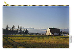 Carry-all Pouch featuring the photograph Classic Barn In The Country by Mick Anderson