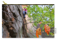 Climber In Fall Carry-all Pouch