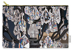 Carry-all Pouch featuring the photograph Closeup Of Crystal Chandelier Art Prints by Valerie Garner