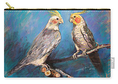 Coctaiel Parrots Carry-all Pouch by Ylli Haruni