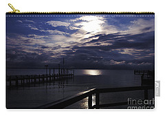 Cold Night On The Water Carry-all Pouch by Clayton Bruster