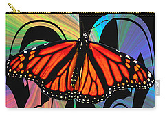 Color My World With Butterflies Carry-all Pouch by Carol F Austin