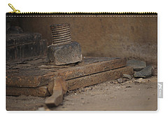 Carry-all Pouch featuring the photograph Color Of Steel 1 by Fran Riley