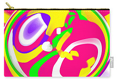 Carry-all Pouch featuring the digital art Color Roundup by George Pedro