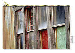 Carry-all Pouch featuring the photograph Colorful Windows by Fran Riley