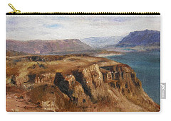 Carry-all Pouch featuring the painting Columbia River Gorge I by Lori Brackett
