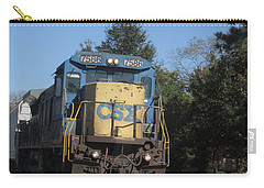 Carry-all Pouch featuring the photograph Coming Down The Track by Donna Brown
