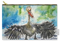 Carry-all Pouch featuring the painting Cooling Off by Anna Ruzsan