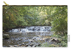 Carry-all Pouch featuring the photograph Corbetts Glen Waterfall by William Norton