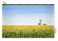 Corn Field With Silos Carry-all Pouch by Elena Elisseeva