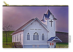 Carry-all Pouch featuring the photograph Country Church At Sunset Art Prints by Valerie Garner