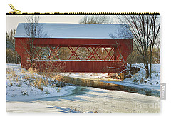 Carry-all Pouch featuring the photograph Covered Bridge by Eunice Gibb