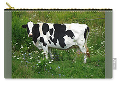 Cow In The Flowers Carry-all Pouch