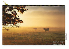 Cows In A Foggy Field Carry-all Pouch