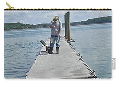 Crabber Man Carry-all Pouch by Patricia Greer