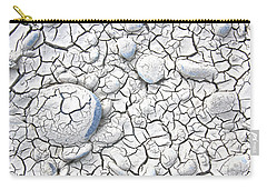 Carry-all Pouch featuring the photograph Cracked Earth by Nareeta Martin