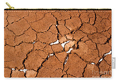 Carry-all Pouch featuring the photograph Cracked Red Soil  by Les Palenik