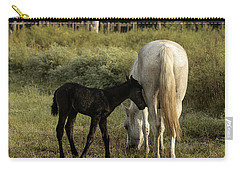 Cracker Foal And Mare Carry-all Pouch