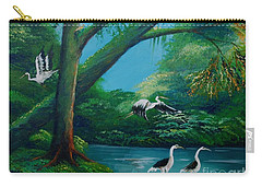 Cranes On The Swamp Carry-all Pouch