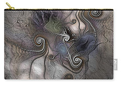 Carry-all Pouch featuring the digital art Creatively Calcified by Casey Kotas