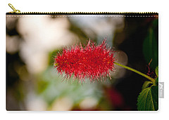 Carry-all Pouch featuring the photograph Crimson Bottle Brush by Tikvah's Hope