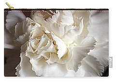 Carry-all Pouch featuring the photograph Crisp Carnation Photo by Deniece Platt