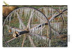 Carry-all Pouch featuring the photograph Crops Of Ice #2 by Nola Lee Kelsey