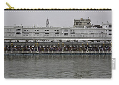 Carry-all Pouch featuring the photograph Crowd Of Devotees Inside The Golden Temple by Ashish Agarwal