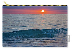 Crystal Blue Waters At Sunset In Treasure Island Florida 3 Carry-all Pouch